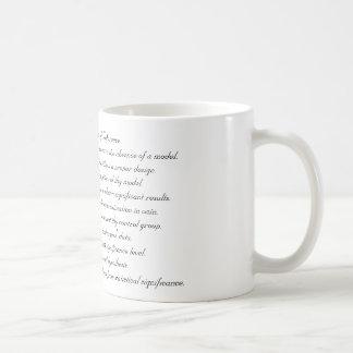 Dix commandements d'inférence mug