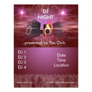 dj_night_dance_flyer prospectus 21,6 cm x 24,94 cm