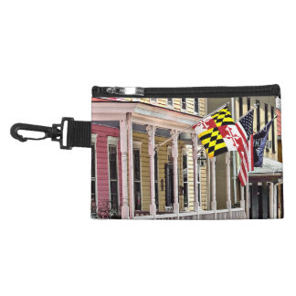 DM d'Annapolis - Drapeaux le long de rue est Pochette Avec Clip
