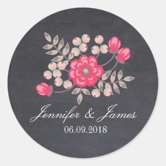 Do-it-yourself épousant les autocollants floraux