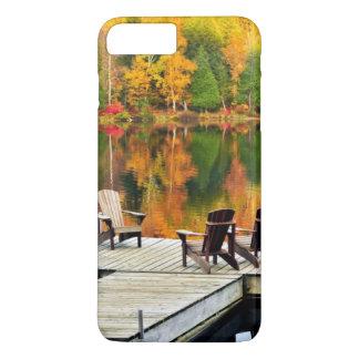Dock en bois sur le lac autumn coque iPhone 7 plus