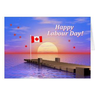 Dock heureux du Canada de jour de travail Carte De Vœux