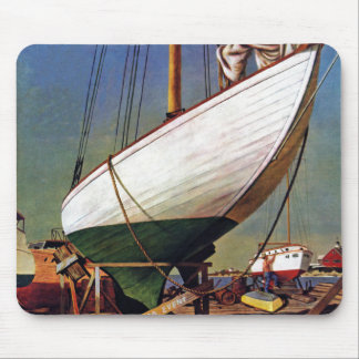 Dock sec par John Atherton Tapis De Souris