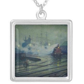 Docks de Cardiff, 1896 Pendentif Carré