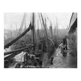 Docks de poissons, Grimsby, début du 20ème siècle Carte Postale
