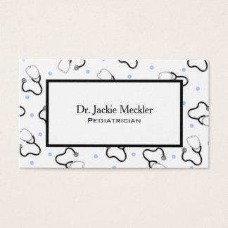 Docteur carte de visite de pédiatre de stéthoscope