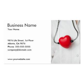 Docteur classique Red White de coeur de Carte De Visite Standard