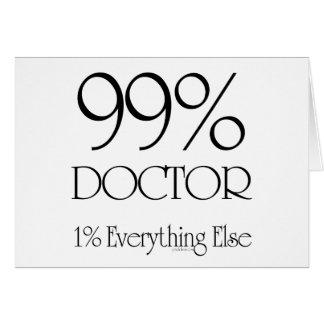 Docteur de 99% carte de vœux