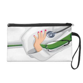 Docteur féminin Bagettes Bag de médecine Pochettes Avec Dragonne