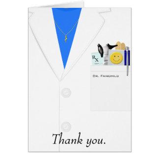 Docteur féminin carte de remerciements