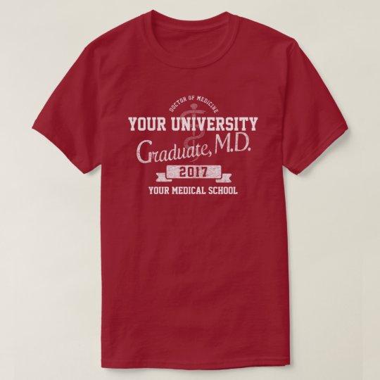 Docteur Graduate Graduation T-Shirt de Faculté de
