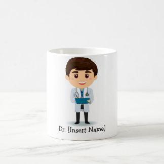Docteur personnalisé de mâle de brune mug