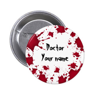 Docteur psychopathe sanglant drôle de Halloween Badge