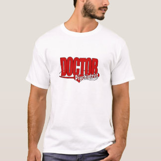 DOCTEUR ROUGE DE LOGO DE PSYCHIATRE GRAND T-SHIRT