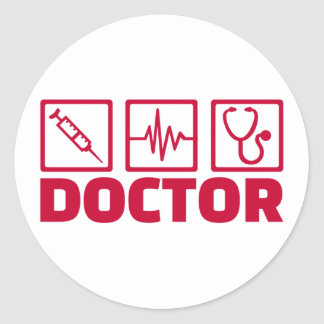 Docteur Sticker Rond
