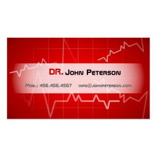 Docteur, thérapeute, ambulance, carte de cardiolog carte de visite standard