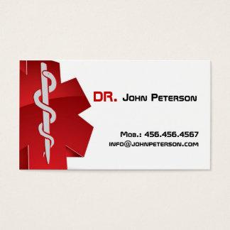 Docteur, thérapeute, ambulance, carte de médecin