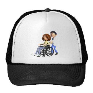 Docteur Wheeling Patient In Wheelchair de bande Casquette De Camionneur