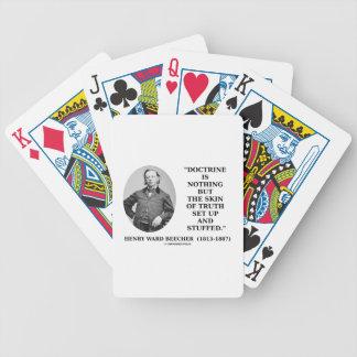Doctrine rien mais peau d'installation de vérité jeux de cartes