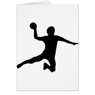 dodgeball de spieler de handball carte de vœux