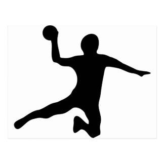 dodgeball de spieler de handball cartes postales