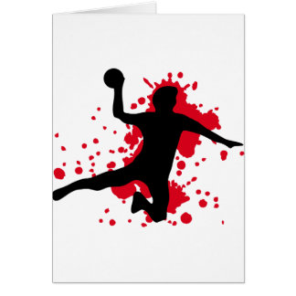 dodgeball sanglant de handball cartes de vœux