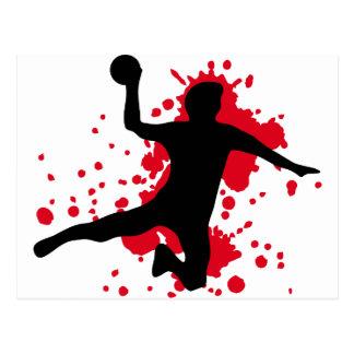 dodgeball sanglant de handball cartes postales