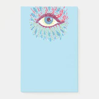 D'oeil psychédélique bleu étrange de larmes