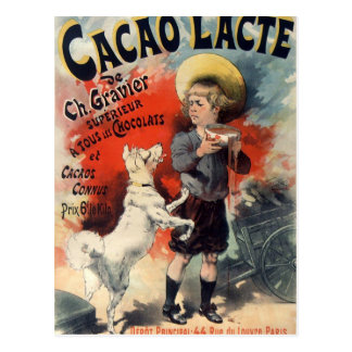 dog and greedy child postcard carte postale