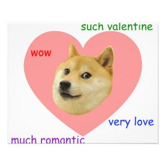 Doge beaucoup de Valentines de jour d'amour très t Prospectus