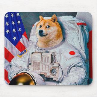 Doge chien-mignon d'astronaute-doge-shibe-doge de tapis de souris