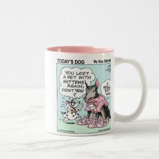 DOGG D'AUJOURD'HUI - A perdu un pari au chat Mug Bicolore
