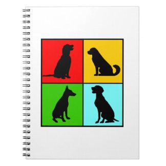 Dogs styles carnets à spirale
