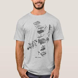 DOHC éclaté avec le logo arrière T-shirt
