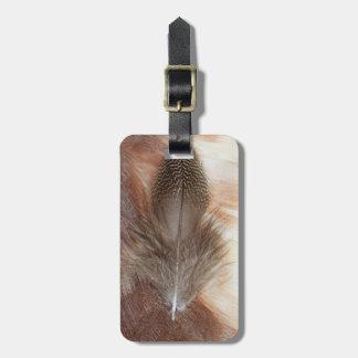 D'oie de plume toujours la vie égyptienne étiquette à bagage