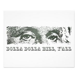 Dollar lundi de Dolla Dolla Bill Yall George Washi Prospectus 11,4 Cm X 14,2 Cm