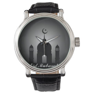 Dôme de mosquée et silhouette de minaret montre