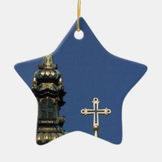 Dômes orthodoxes d'église chrétienne ornement étoile en céramique