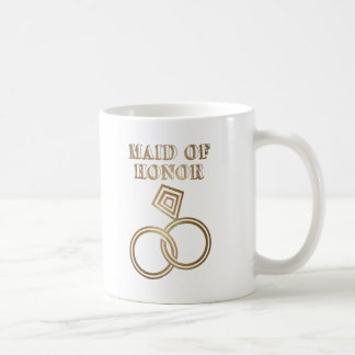Domestique de épouser romantique d'anneaux d'or mug