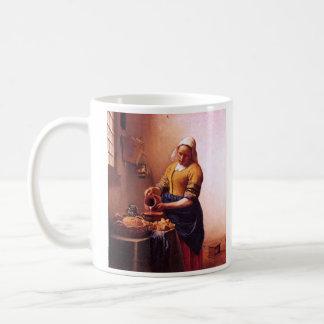 Domestique de lait par Johannes Vermeer Mug Blanc