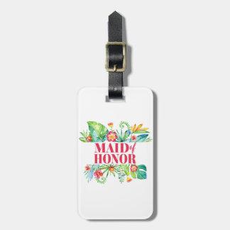 Domestique de mariage de destination d'honneur étiquette à bagage