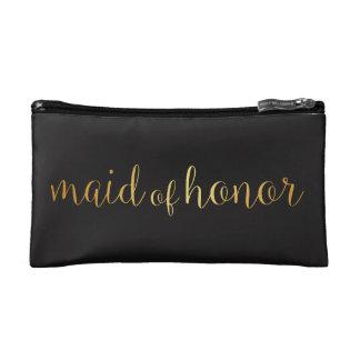 domestique de sac d'or de maquillage d'honneur trousses de toilette