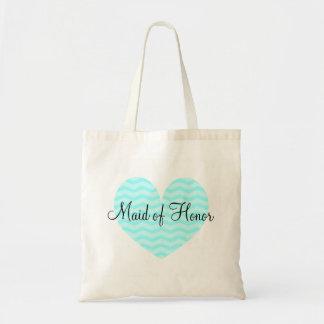 Domestique de sac fourre-tout à chevron de coeur