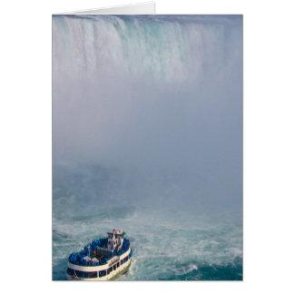 Domestique des chutes du Niagara d'arc-en-ciel de Carte De Vœux
