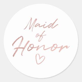 Domestique d'honneur - autocollant rose