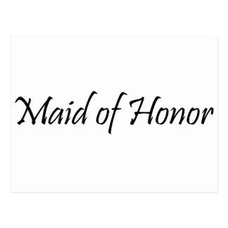 Domestique d'honneur carte postale