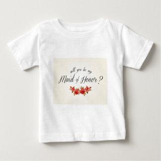 Domestique d'honneur t-shirt pour bébé