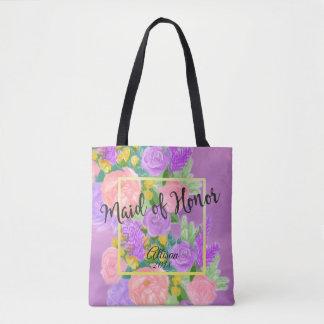 Domestique florale assez pourpre de sac