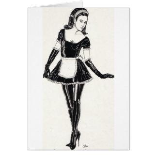 Domestique française sexy en PVC Carte De Vœux