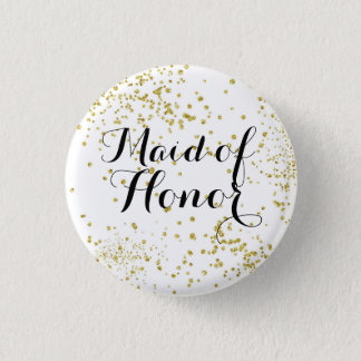 Domestique mignonne de parties scintillantes d'or badge